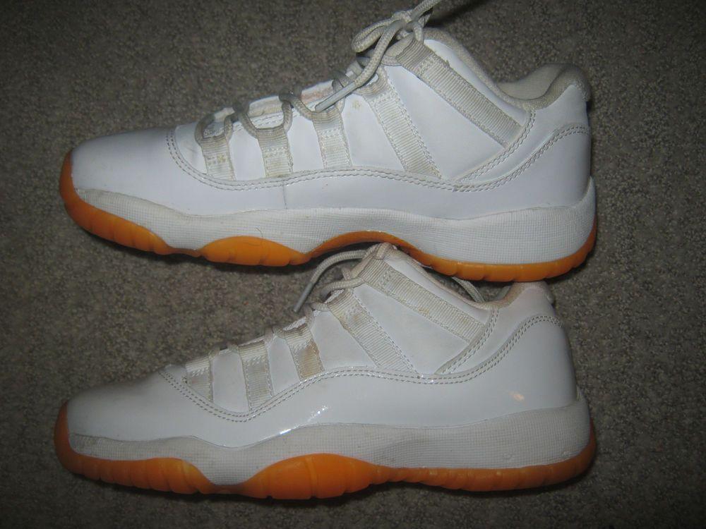 brand new 4c35d 7fc0e Nike Air Jordan 11 Retro Low GG Citrus White 580521-139 Size 4Y Youth Shoes
