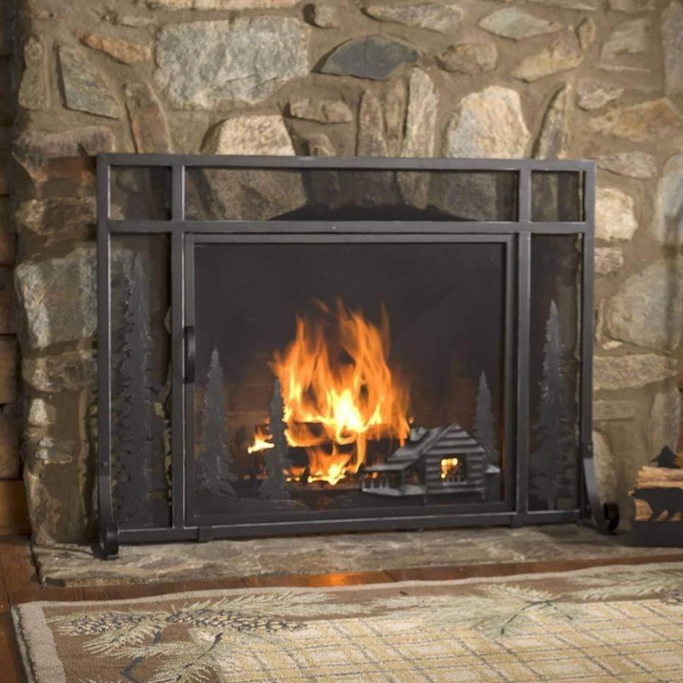 12 Freestanding Fireplace Screens Hgtv Freestanding Fireplace Fireplace Screens Fireplace