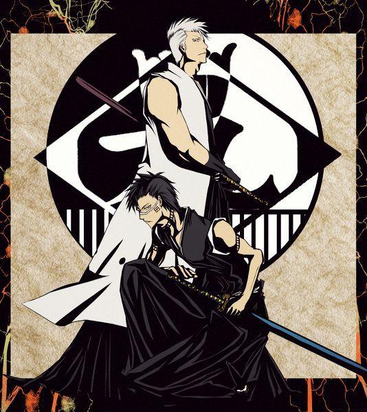 Captain Kensei Muguruma And Vice Hisagi Shuhei