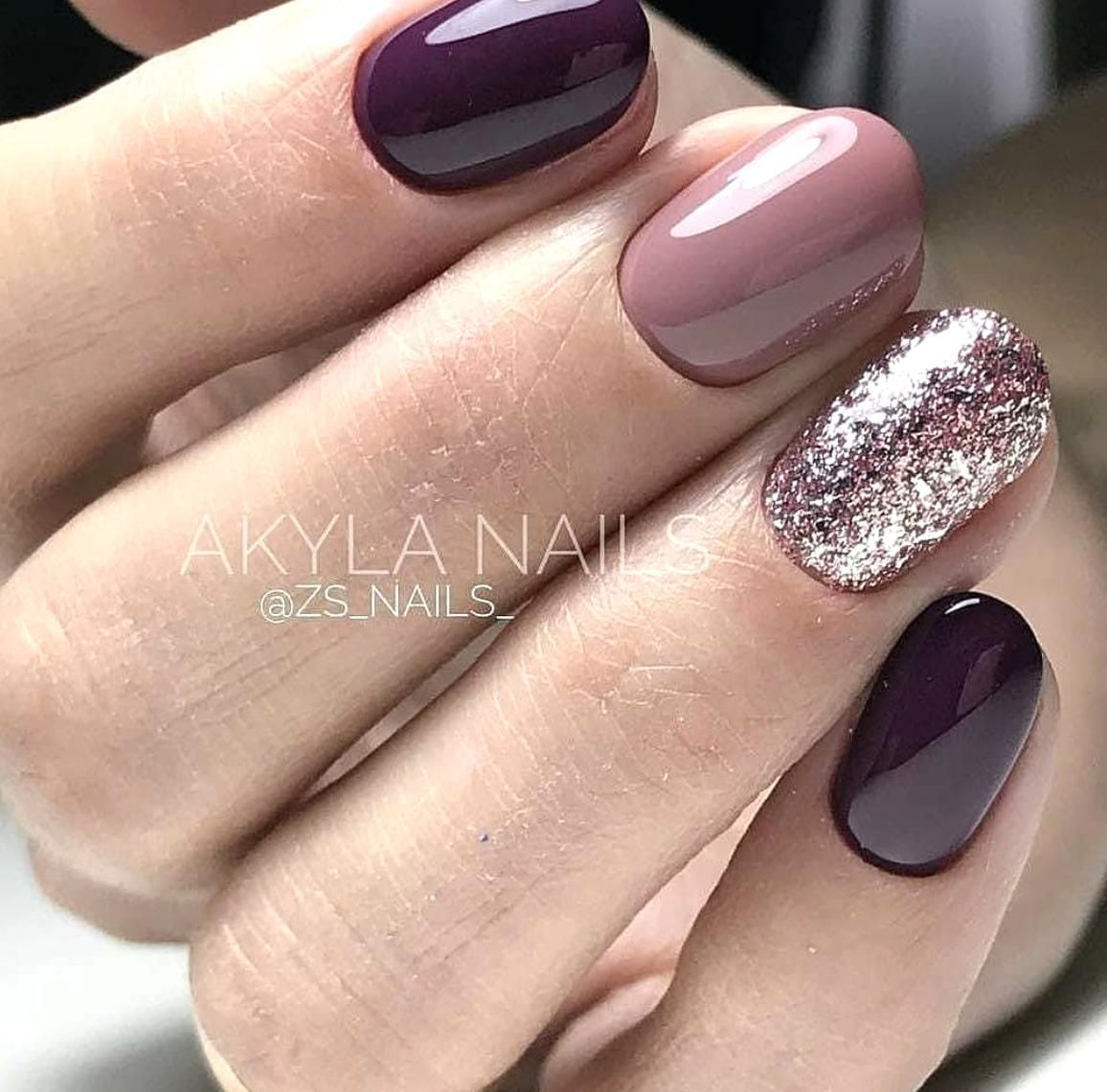 Pin By Vivian Cook On Nails In 2020 Mauve Nails Wedding Nails Design Manicure Colors