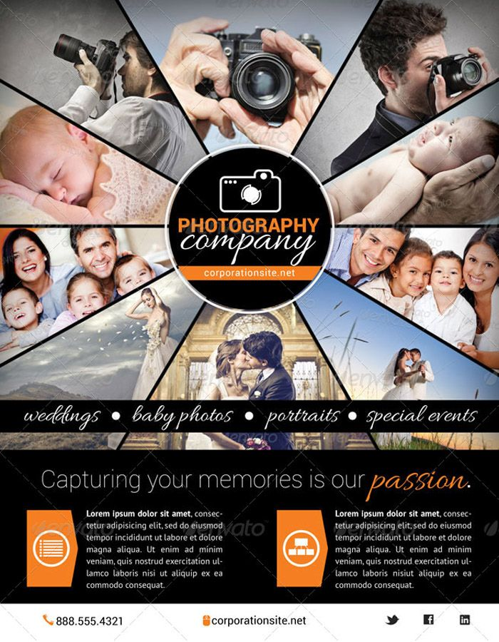 Photography Business Flyer 1 Graphic Design Pinterest Flyer - business pamphlet templates free