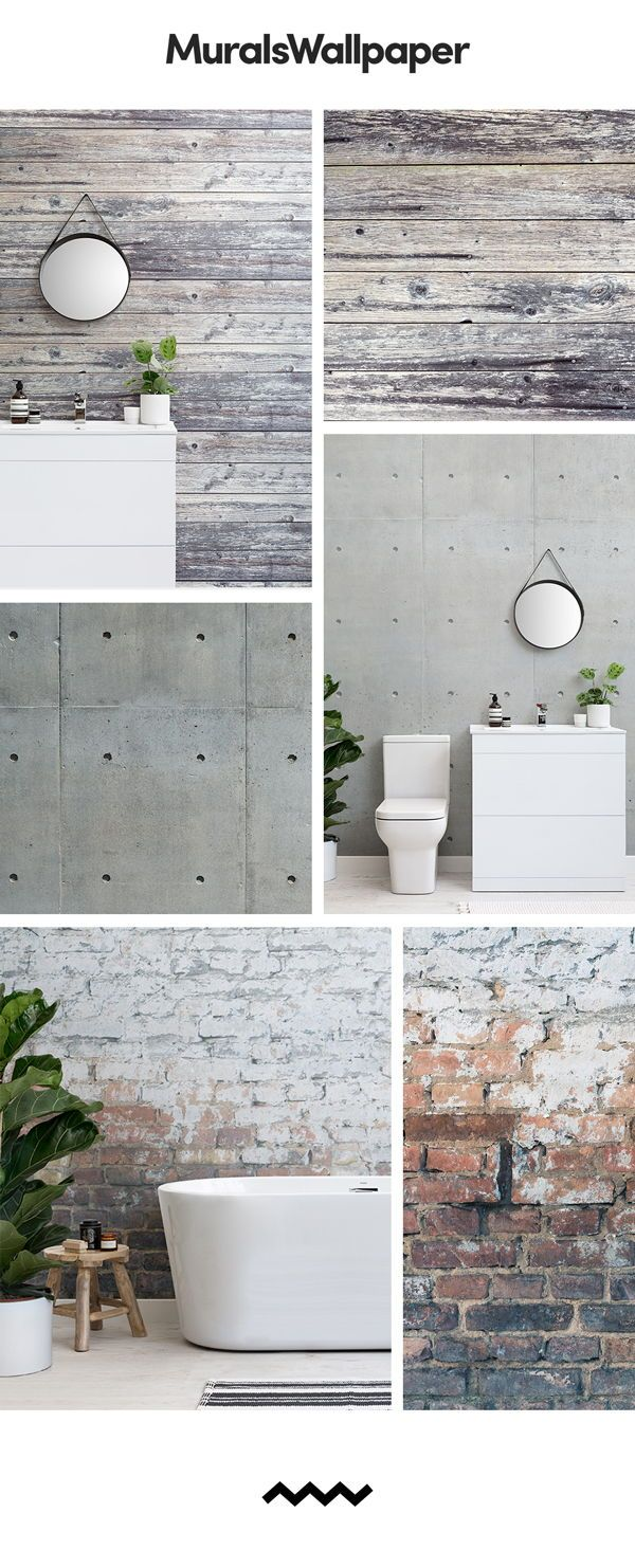 Create A Modern Rustic Bathroom Space With Truly Unique Rustic Wallpapers That Reflect Natural Texture Rustic Wallpaper Home Design Blogs Wood Effect Wallpaper