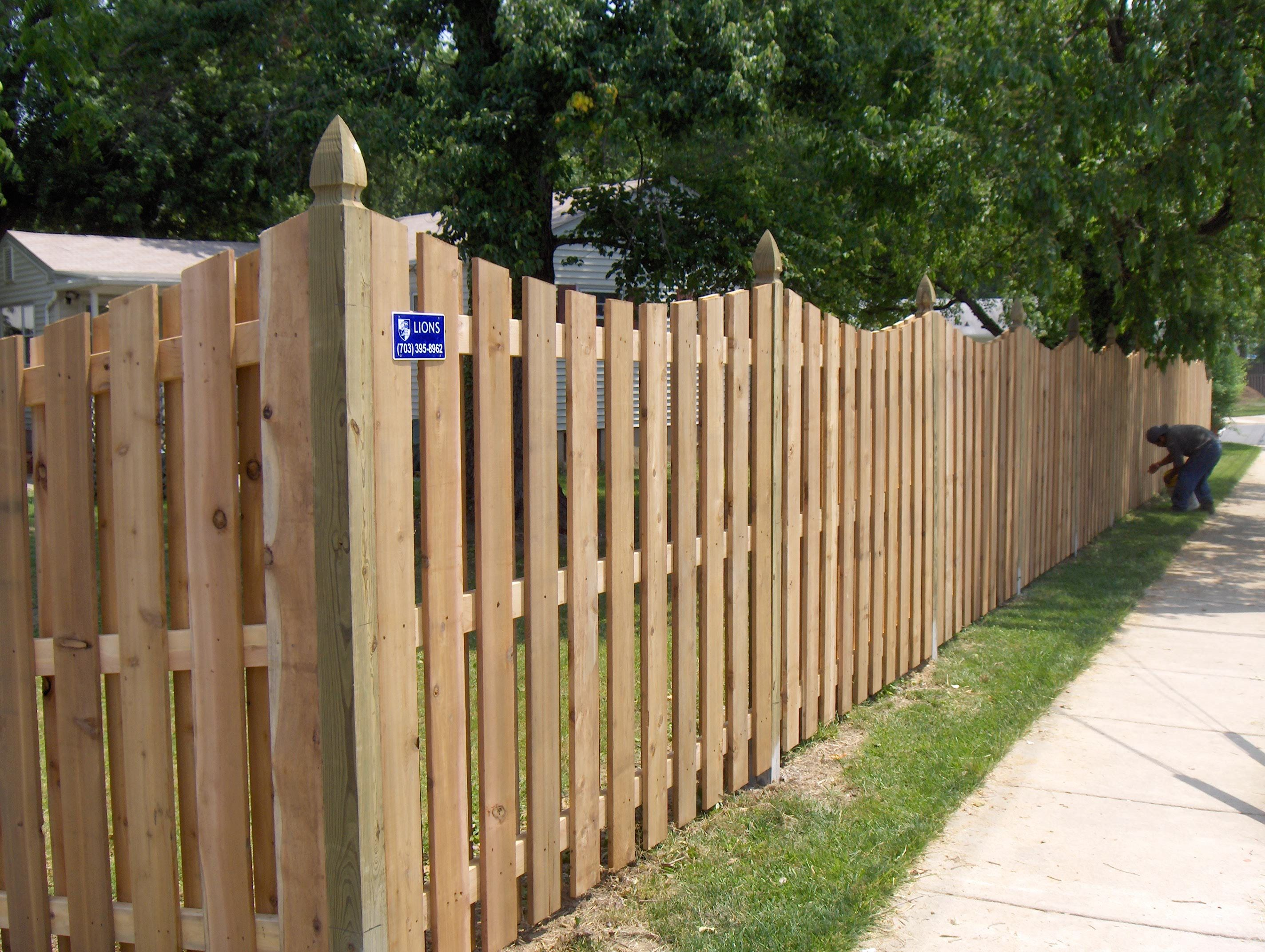 Scalloped Privacy Fence Lions Fence Privacy Fence Designs