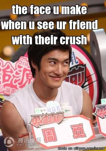The Face You Make When You See Your Friend With Their Crush Source Allkpop Meme