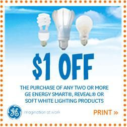 Print A Coupon For $1 Off!   Home Light Bulb Inventory   Can GE Light Amazing Ideas