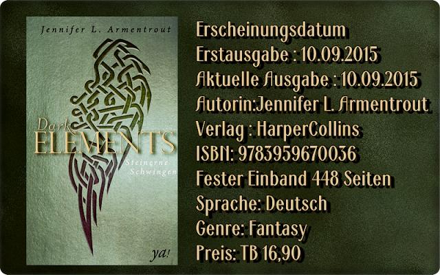 """Leserattes Bücherwelt: [Rezension] """"Dark Elements 1 - Steinerne Schwingen..."""