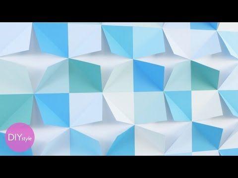 Diy Folded Paper Wall Art Diy Style With Erin Furey Martha Stewart Youtube Paper Wall Art Diy Diy Wall Art Paper Wall Art