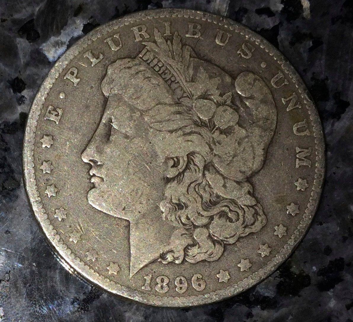1896 o-US Silver Morgan Silver Dollar- Lady Liberty Coin-Antique Money US  Currency Stars gift idea 90% silver Collectible gift idea