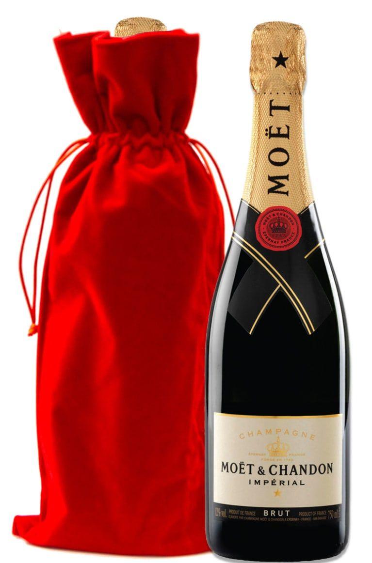 Moet Chandon Imperial Brut With Red Velvet Gift Bag Wine Com In 2020 Moet Chandon Chandon Wine Gift Set