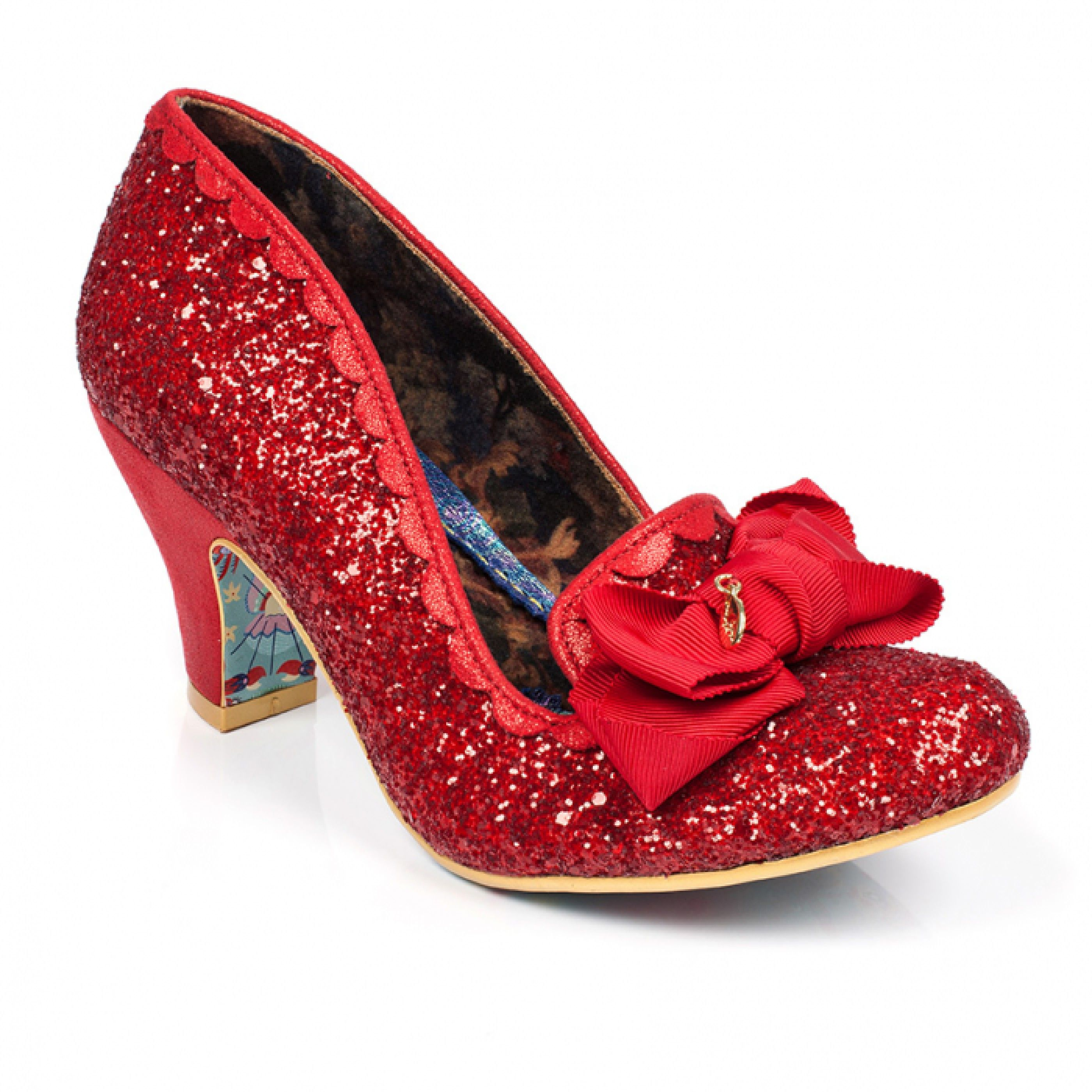 c8280680d5428 Kanjanka | Wizard of Oz rainbow | Shoes, Bow heels, Red glitter shoes