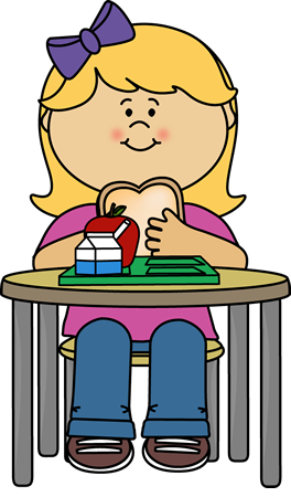 Girl Eating Cafeteria Lunch | Crafts and More | Pinterest ...