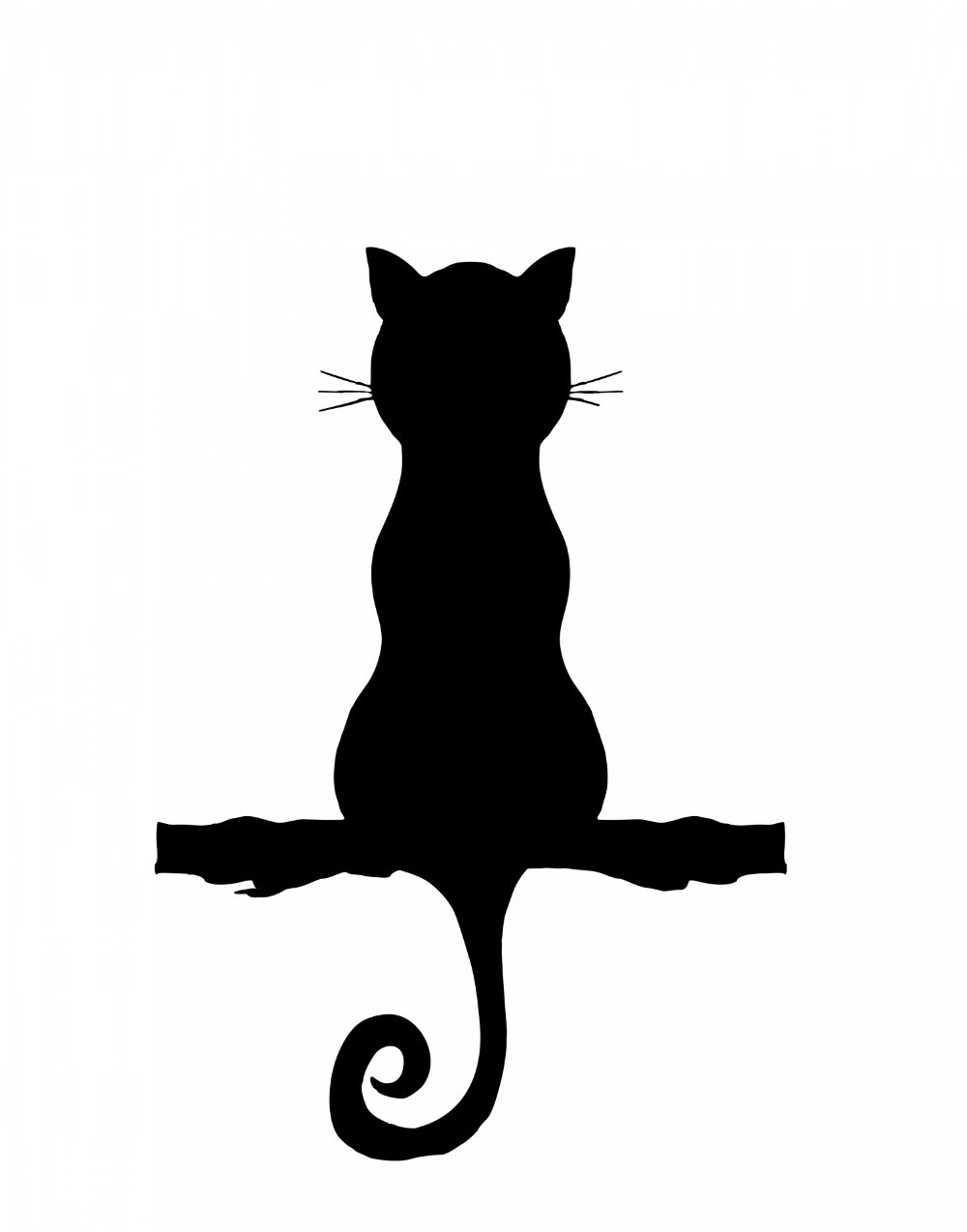 Cat Silhouette Sitting Clipart Free Stock Photo Cat