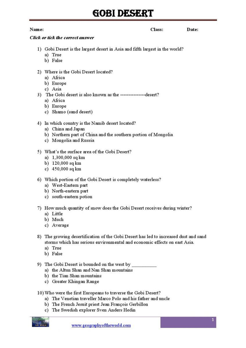 26++ World geography worksheets pdf Latest News