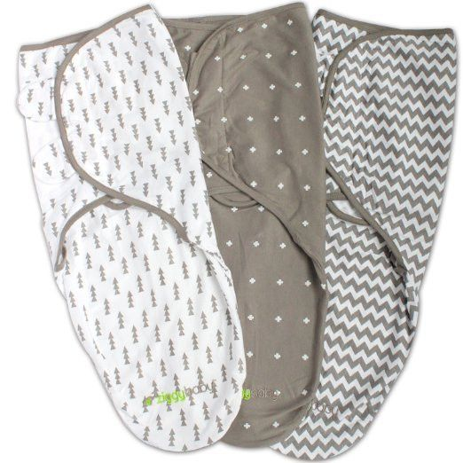 3 Pack Grey Amp White Swaddle Blanket Wrap Baby Stuff