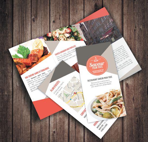 Dpliant Restaurant By Maesfranckx Justine Via Behance Flyer
