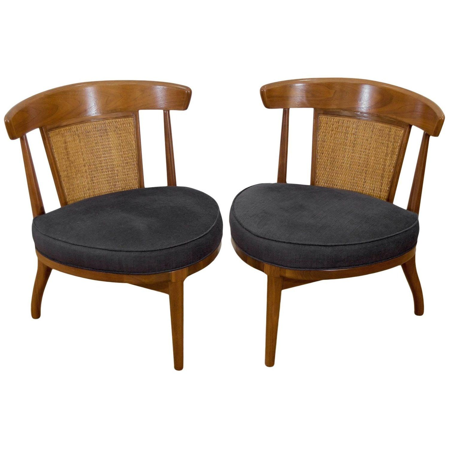 Pair of Petit Drexel Heritage Cane Back Chairs