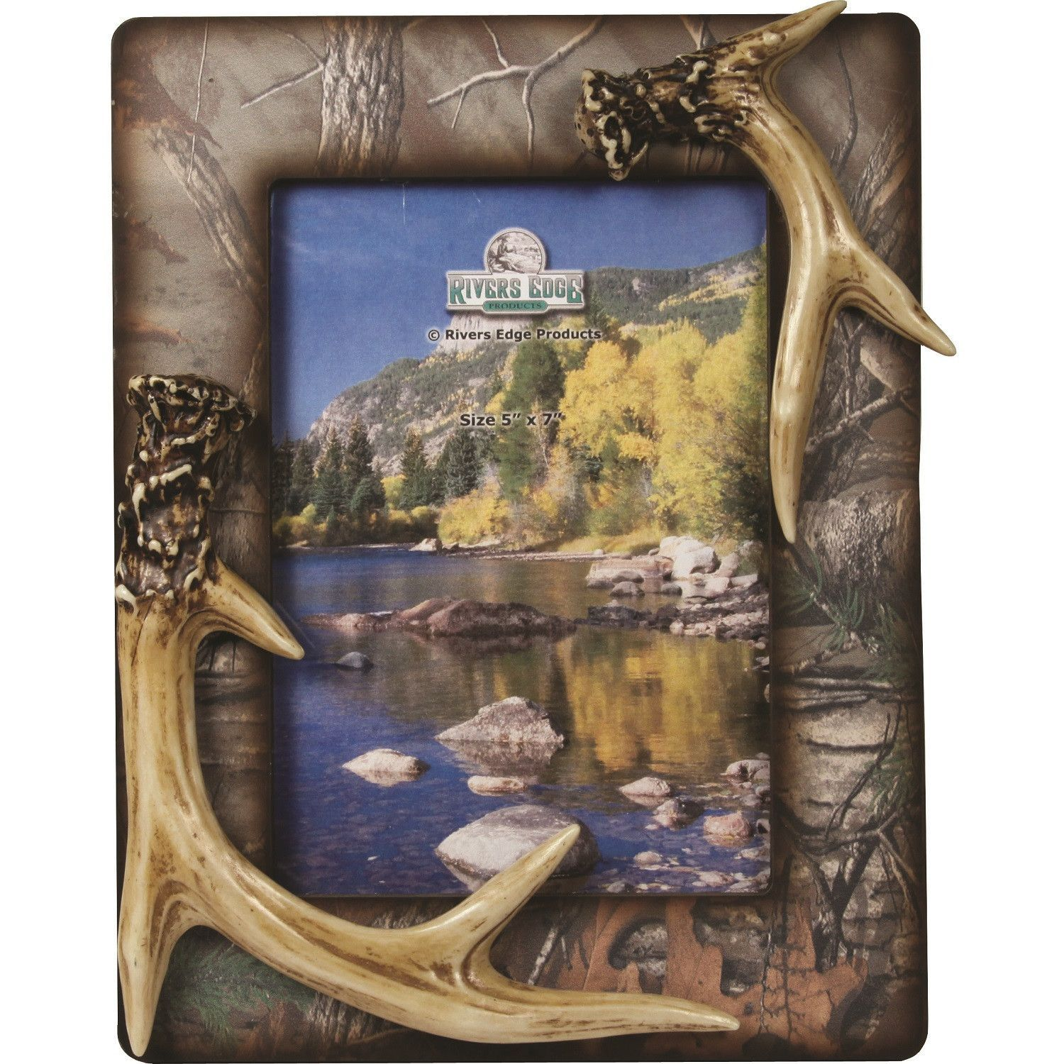 Rivers Edge Camo Antler Picture Frame 5x7 Inch Antlers Pictures Picture Frames