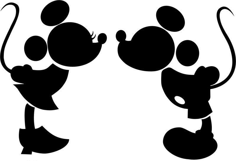 Mickey Minnie Love Silhueta Do Mickey Scrapbook Disney