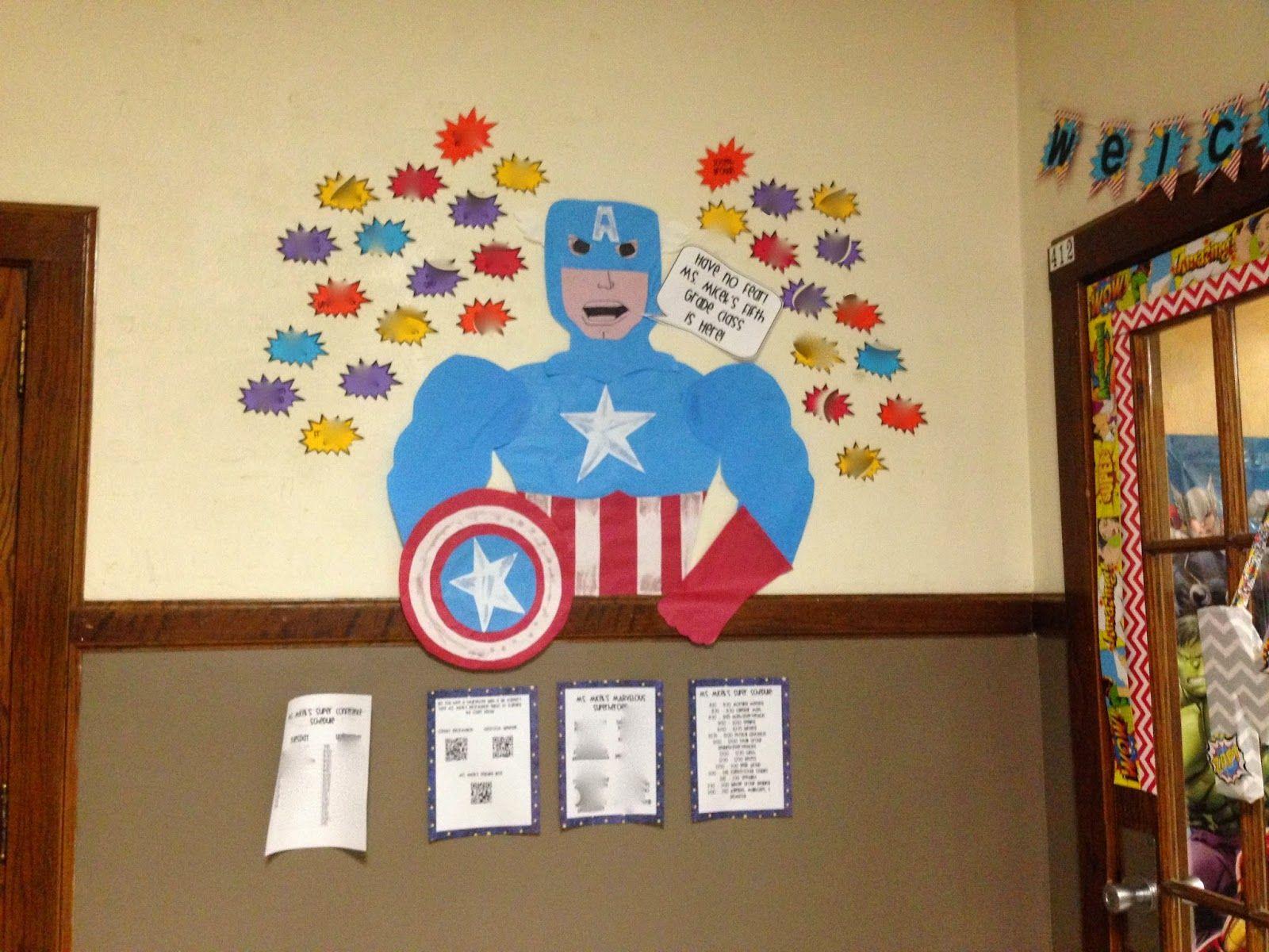 Marvel Classroom Decor ~ Ms fifth grade my marvel ous superhero classroom