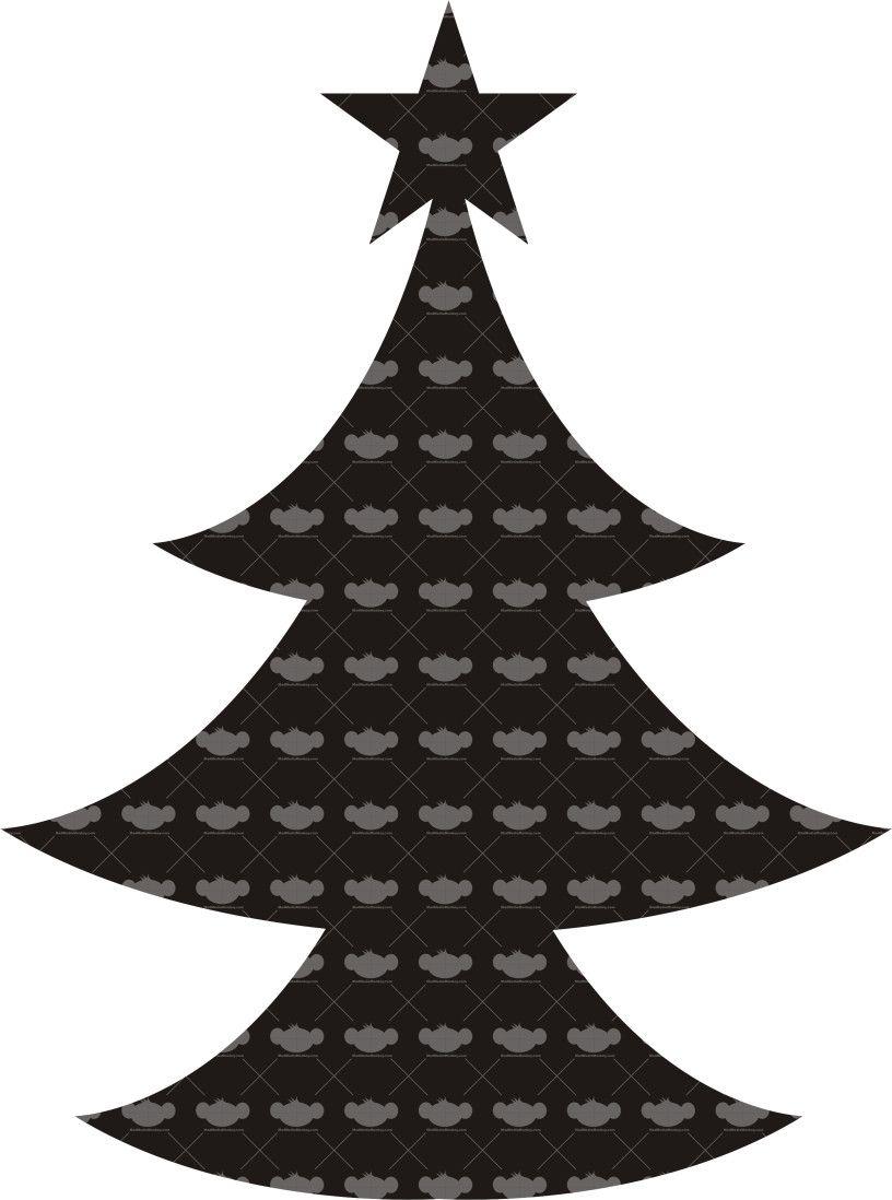 Christmas I V10 Three Tier Pine Tree Topped With Star Coreldraw Vector Designs Tree Tops Pine Tree Pine