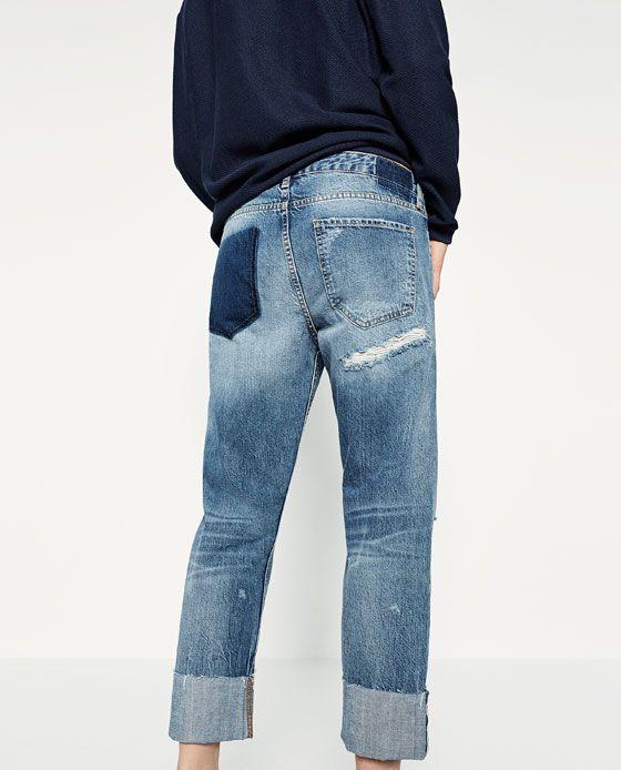 Image 8 of BOYFIT SELVEDGE JEANS from Zara