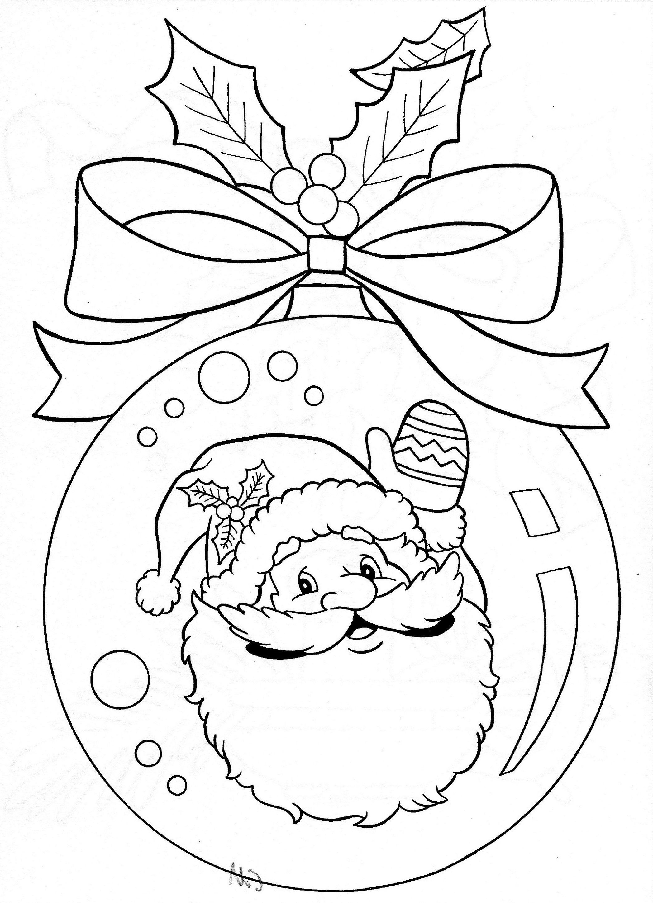 Christmas Mistletoe Coloring Pages For Kids