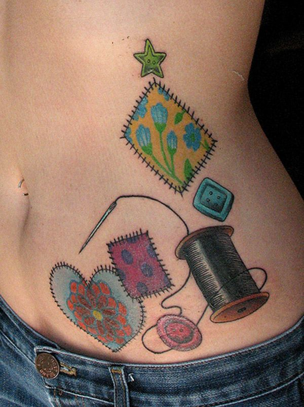This a cute idea for an subject not so sure of placement | if I ... : temporary quilt tattoos - Adamdwight.com