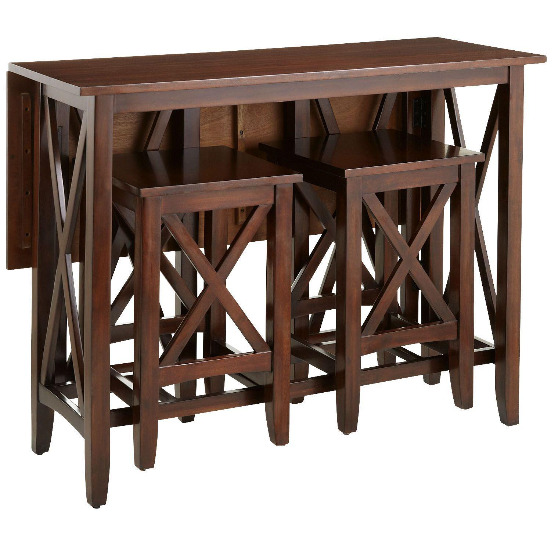 Mahogany Brown Breakfast Table Set