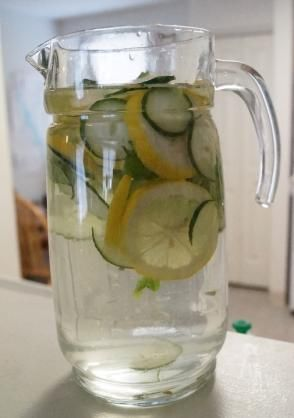 Cucumber, Lemon & Mint  Detox Drink ~ plus Facts about drinking water, plus great uses for Cucumbers