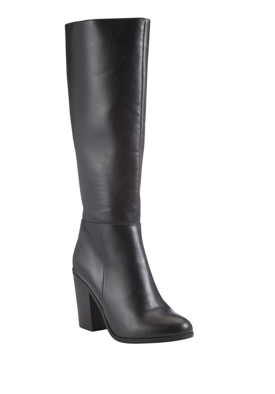 F\u0026F Block Heel Knee High Boots | Boots
