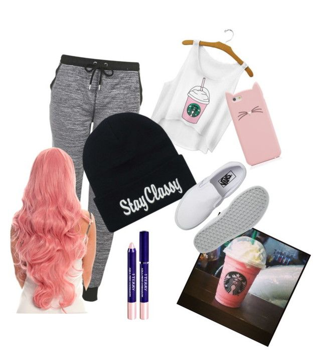 """"""""""" by rtdcdancer ❤ liked on Polyvore featuring Topshop, By Terry, Cotton Candy, Vans and Kate Spade"""