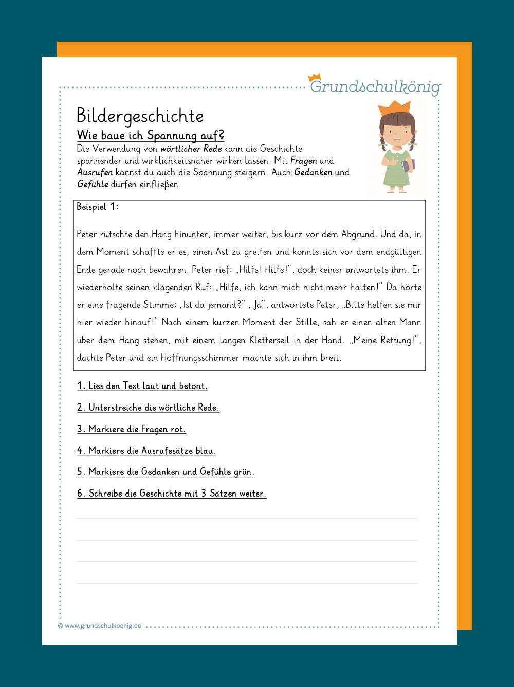 Grundschule Bildergeschichte / Eine Geschichte Schreiben 3
