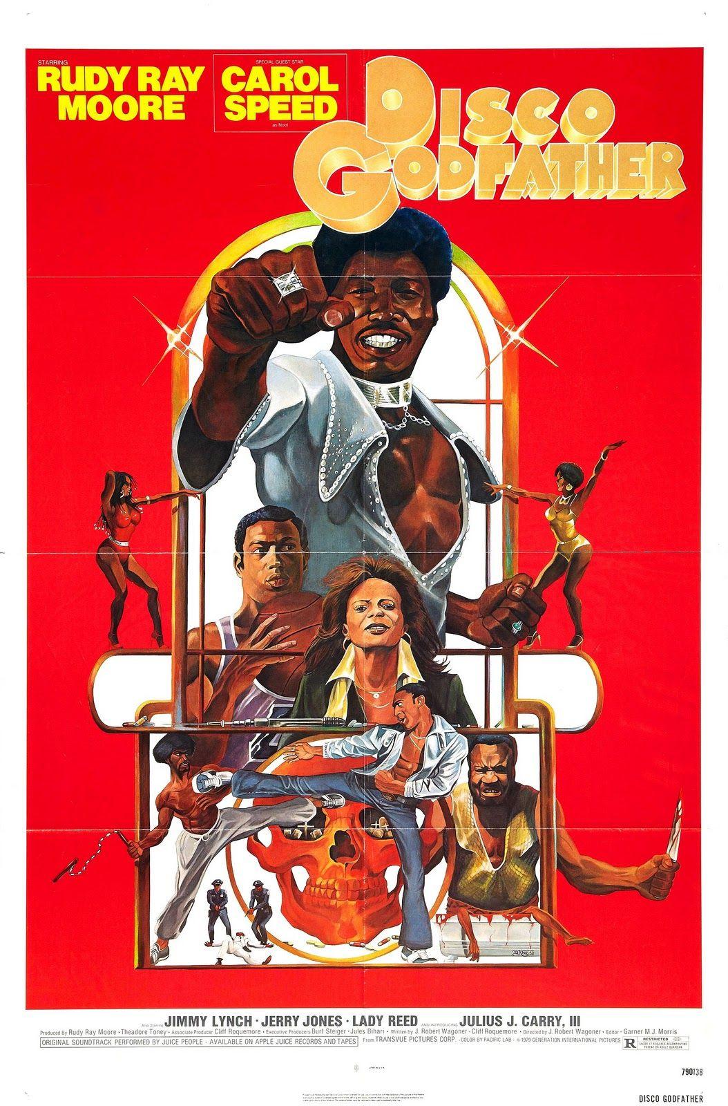 Disco Godfather Movie Blaxploitation 70s Poster Exploitation Blaxploitation Film Godfather Movie Movie Posters