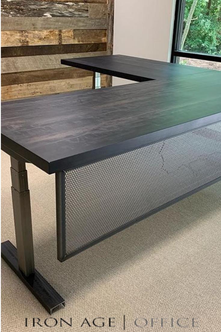 C L E A N M O D E R N Product Ia Sit Stand Pt Ii L Shape Wood Office Furniture Sit Stand Desk Office Furniture Arrangement