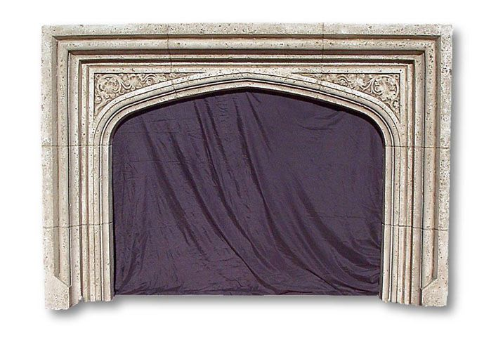 English Tudor Fireplace Mantel Gothic Fireplaces Cast