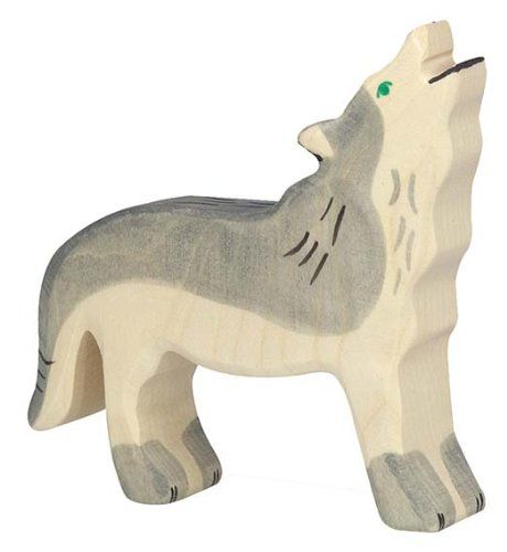 Holztiger Wooden Howling Wolf