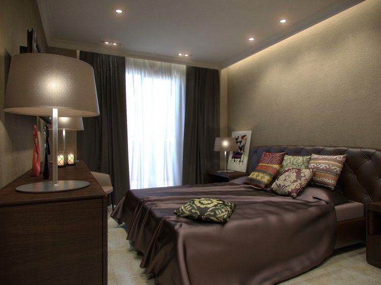 ... Moderne Schlafzimmer Farben \u2013 Braun Vermittelt Luxus Und Komfort   Moderne  Schlafzimmer Braun ...
