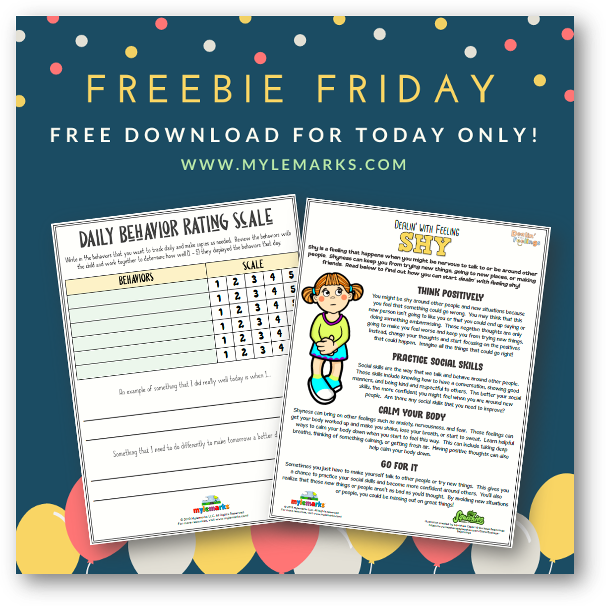 2 Free Therapy Worksheets From Mylemarks For Today Only