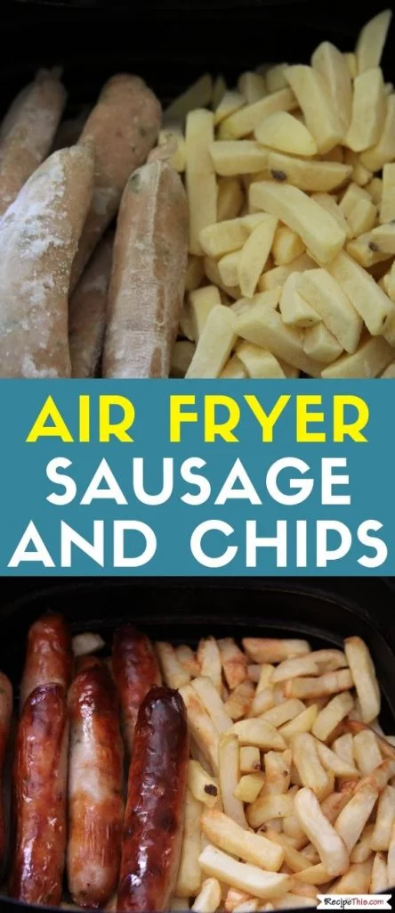 Air Fryer Sausage And Chips Receita