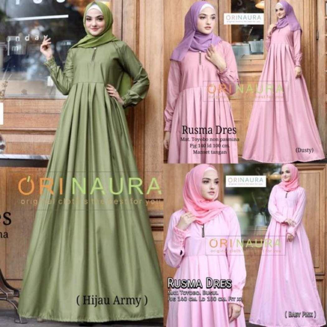 Model Gamis Toyobo Kombinasi Batik  Wanita, Baju muslim, Muslim