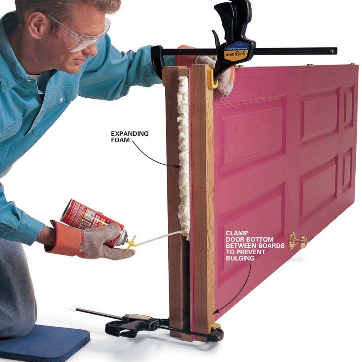 Hollow Door Fix New Bottom For Hollow Core Doors Hollow Core Doors Rustic Barn Door Repair