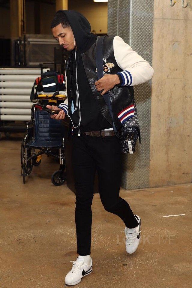 5a53154d45f Jordan Clarkson wearing Gucci Blind For Love Lambskin Jacket