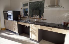 Kitchen Designed For A Wheelchair User Comfortable Access To Sink - Kitchen for wheelchair user