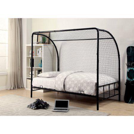 Coaster Bennette Youth Soccer Bed. Twin size, black - Walmart.com ...