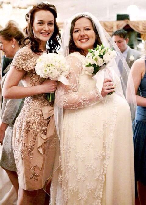 blair with the bride at dorotas wedding - Blair Waldorfzimmer