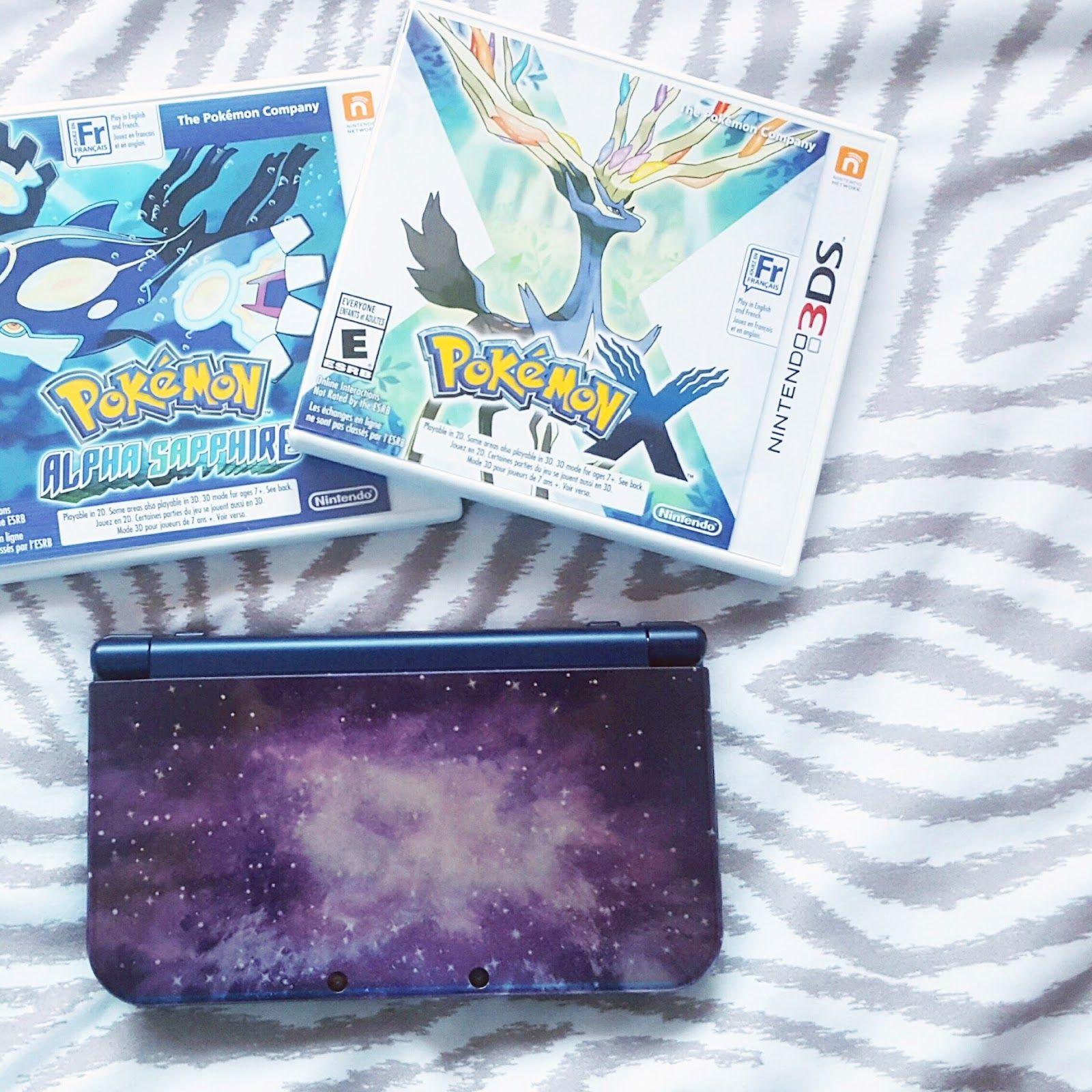 Nintendo 3DS XL - Galaxy   Pokemon X & Y  Pokemon Alpha Sapphire & Pokemon Omega Ruby