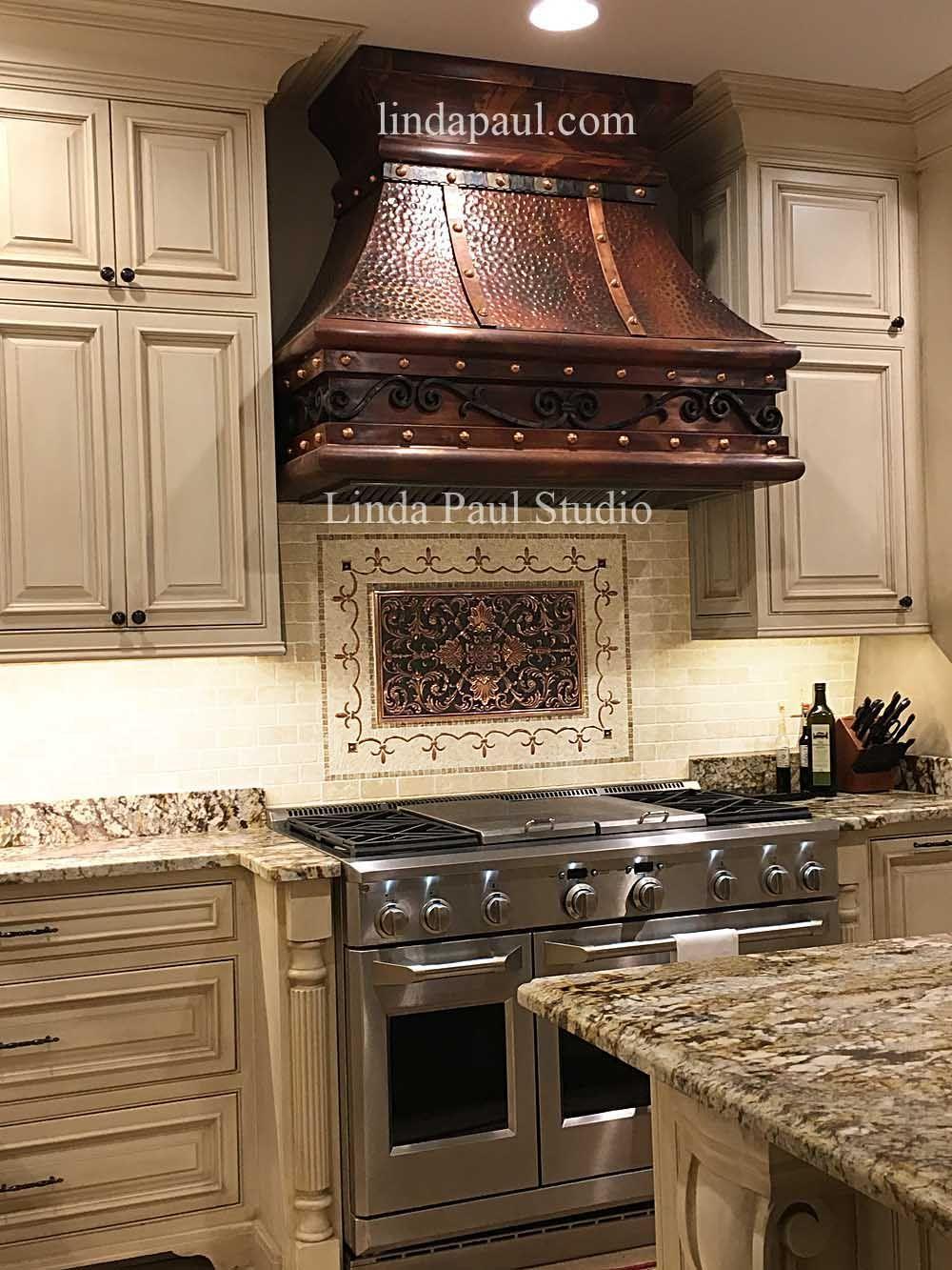 ravenna kitchen backsplash plaque medallion and mosaic in 2020 stove backsplash backsplash on outdoor kitchen backsplash id=23047