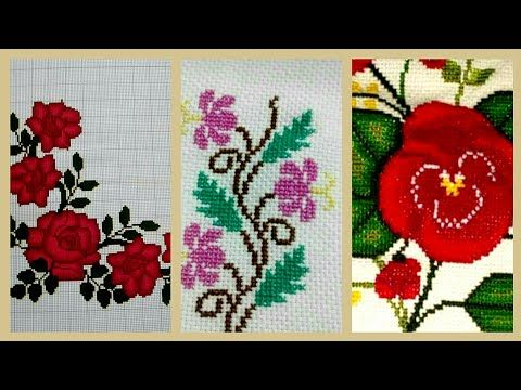 Elegant Cross Stitches Pattern awesome Ideas For cushion