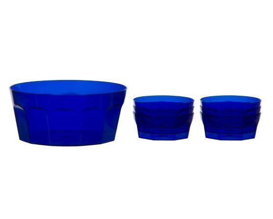 Kit Sobremesa Fradique 7 Peças Azul