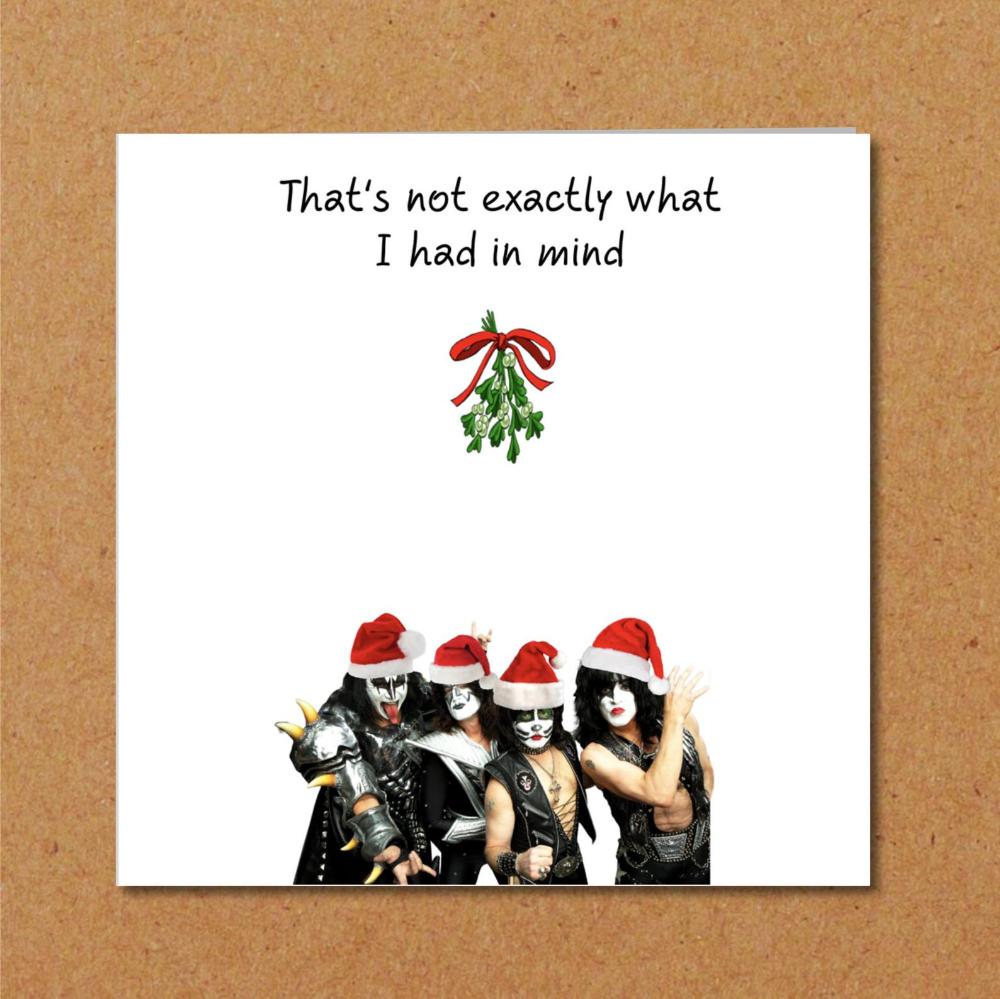 Kiss under the Mistletoe! Funny Christmas Card for Gene